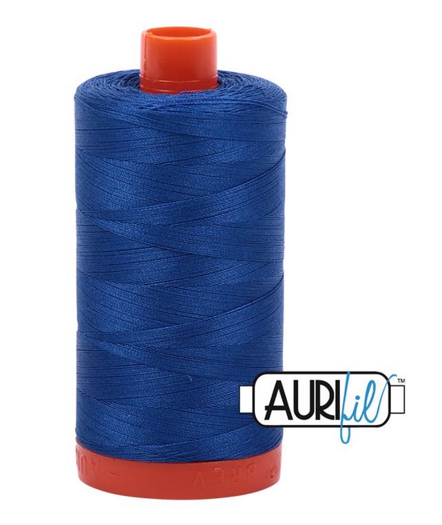 Cotton Mako: Solid 50 wt - 1422 yds Medium Blue 2735