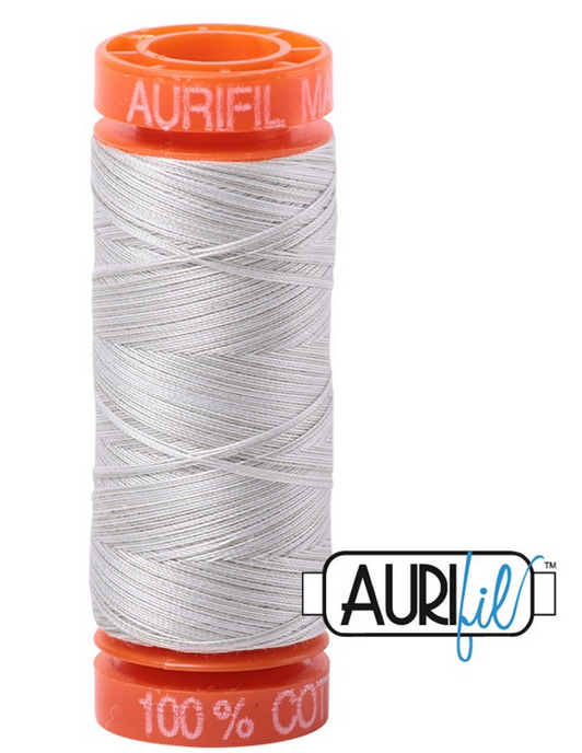 Aurifil Cotton Mako: Variegated 50 wt - 220 yds Silver Moon-4060