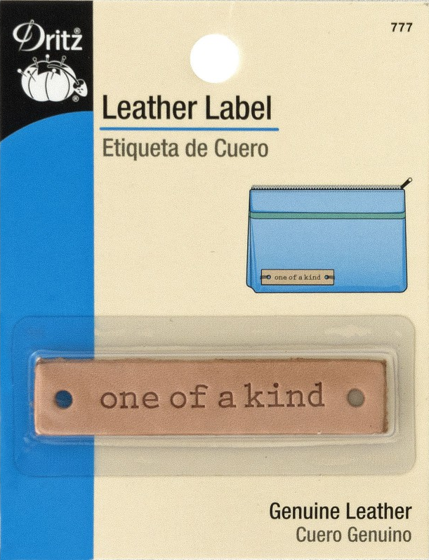 Leather label -one of a kind-