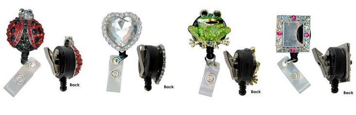 Bling Clip and Reel Round Assorted Styles