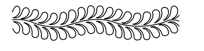 Feather Groovy Board Border