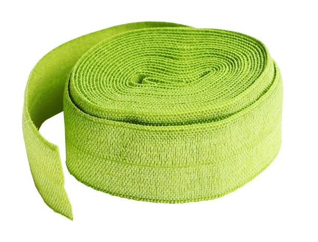 3/4-inch Fold Over Elastic Apple Green