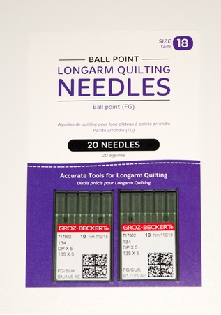 Ball Point Longarm Needles - Two packages of 10 (18/110-FG, Ball Point)