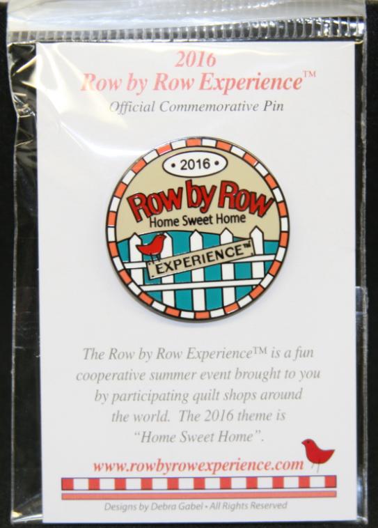 Row By Row 2016 Round Logo PIN