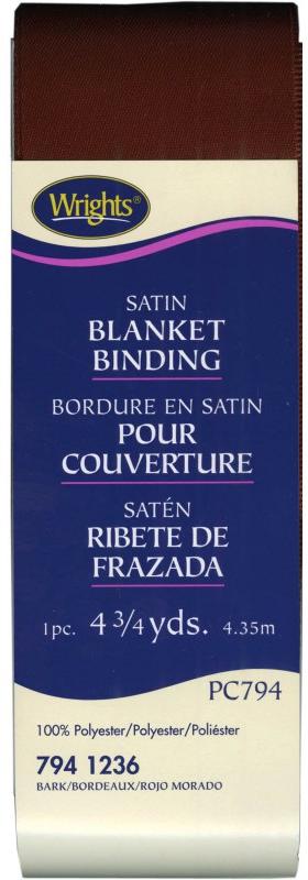 Bark Satin Blanket Binding 2in x 4-3/4 yds