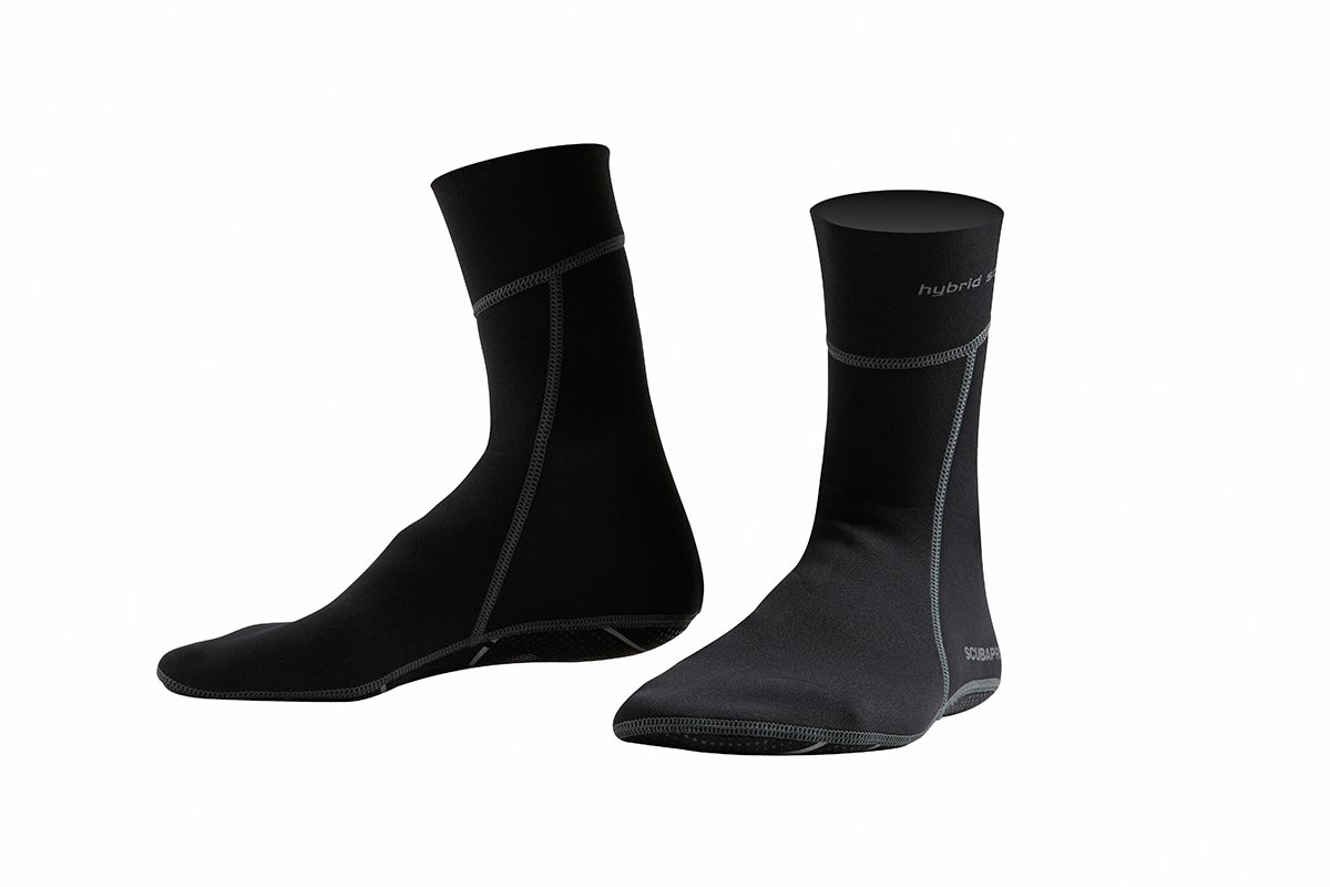 Hybrid Socks 2.5mm w/Non Slip Sole - Black