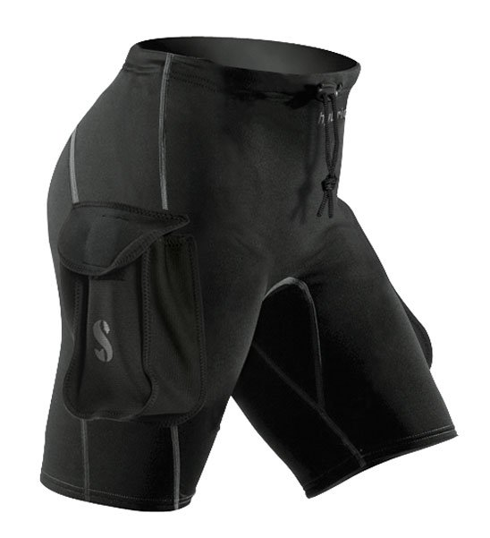 Hybrid Shorts w/Pockets - Black