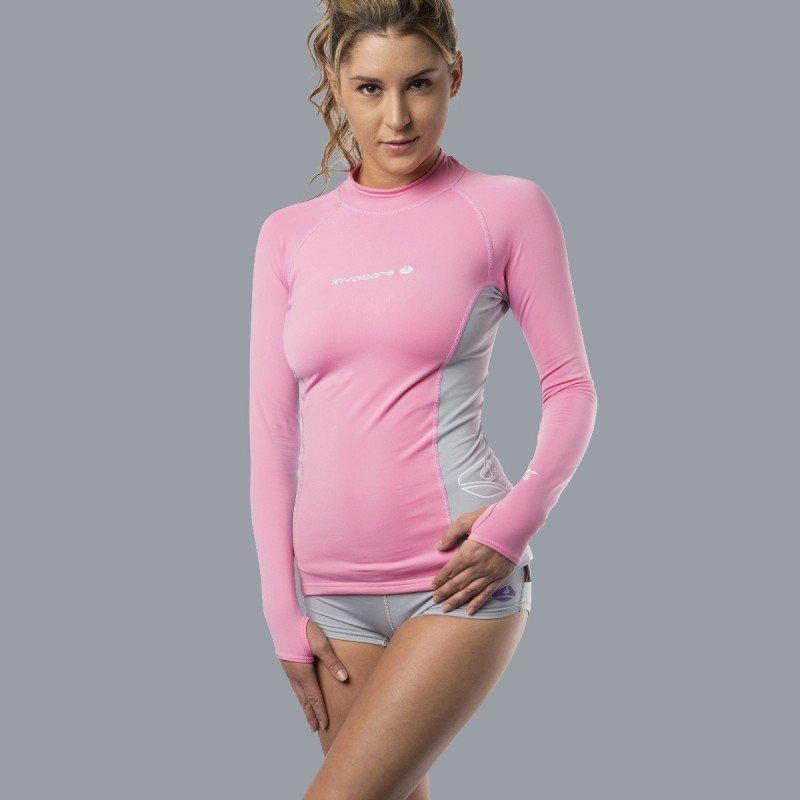 Lavaskin L/S Shirt Female, PK/GY, 12/MD