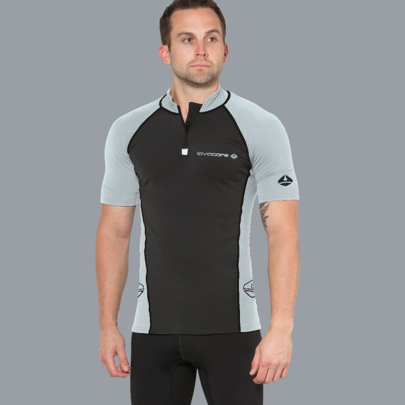 Lavaskin S/S Shirt Male, BK/GY, LG