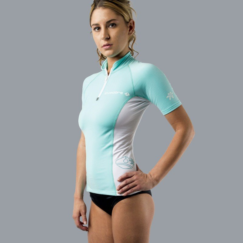 Lavaskin S/S Shirt female, GN/WH, 20/2XL
