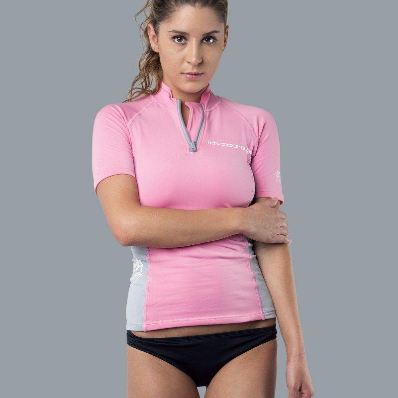 Lavaskin S/S Shirt Female, PK/GY, 12/MD