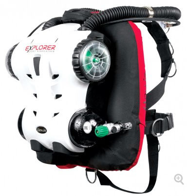 Explorer Sport RB w/backplate and wing w/o Cylinder, Valves and WITH CO2 Monitor