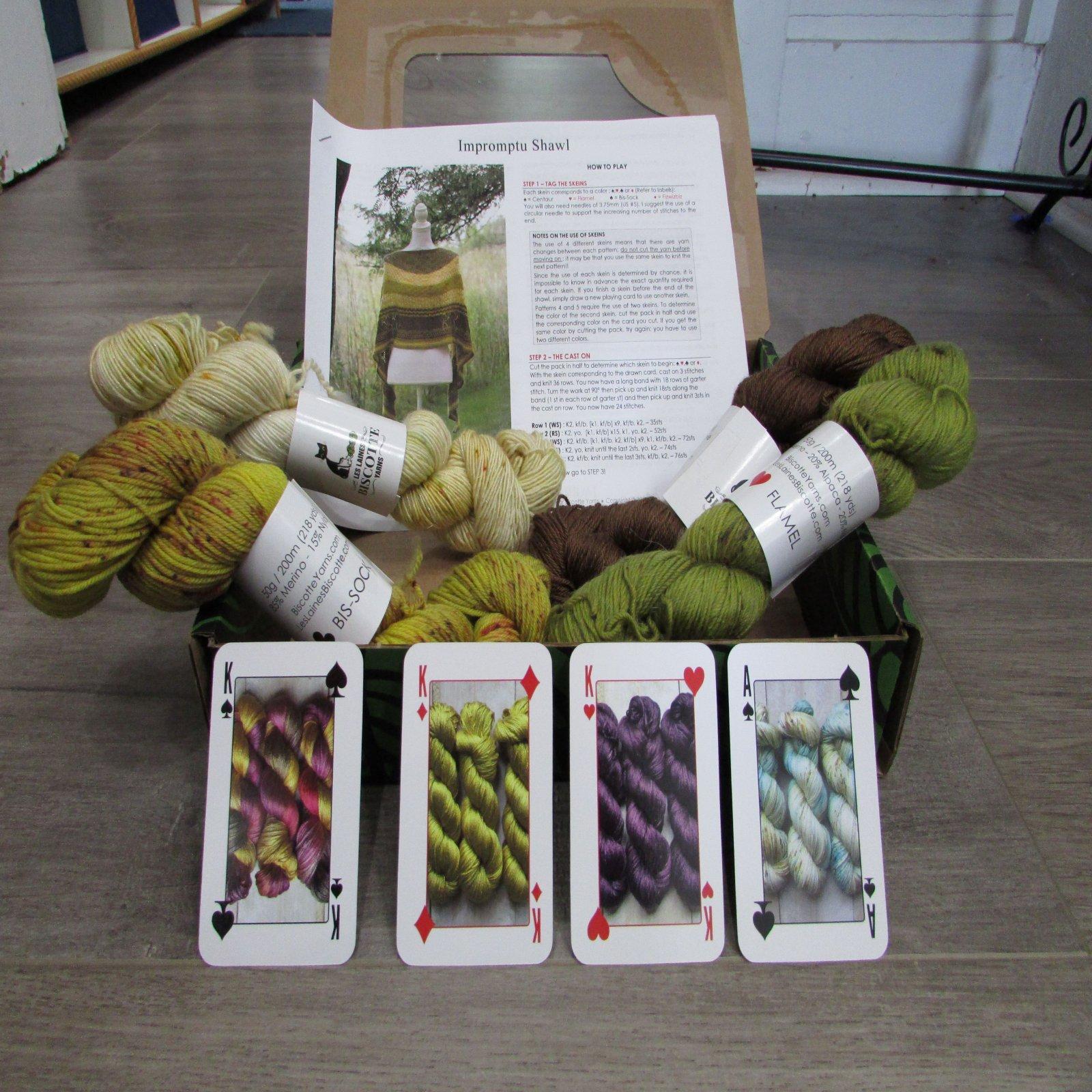 Biscotte Shawl Knitting Game Kit