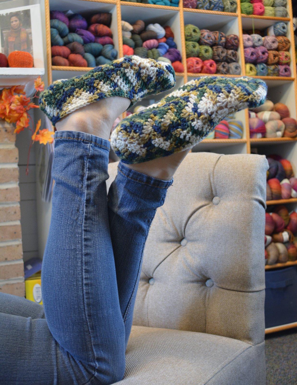 Crochet Fern Slippers Digital Download