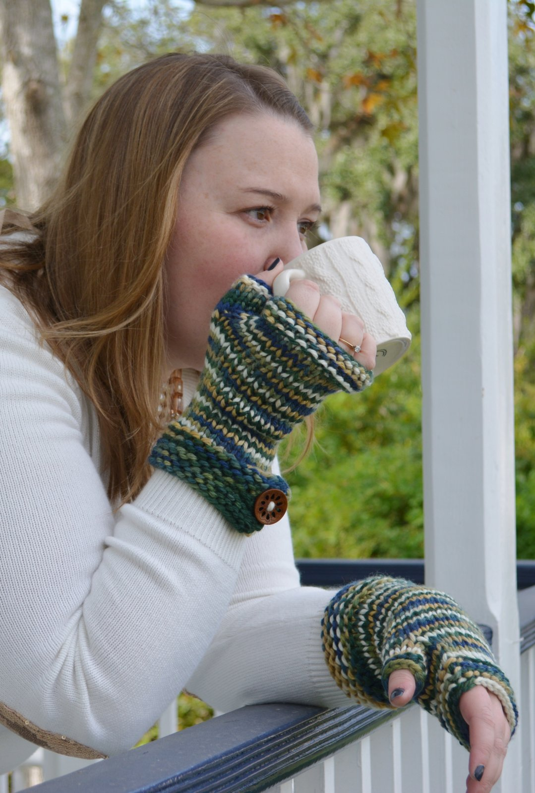 Ice Water Fingerless Mitts Digital Download