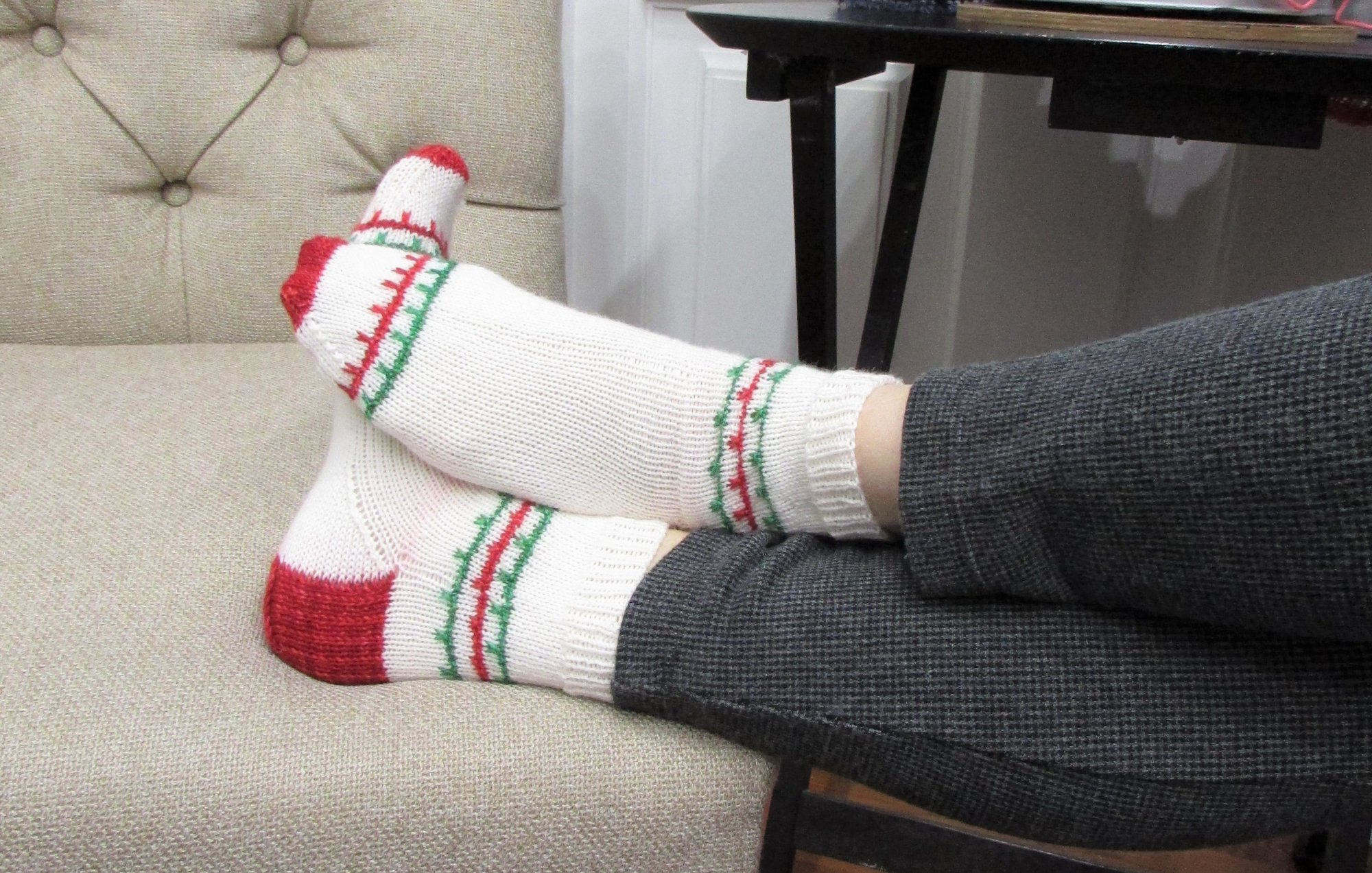 On the Porch Xmas Socks