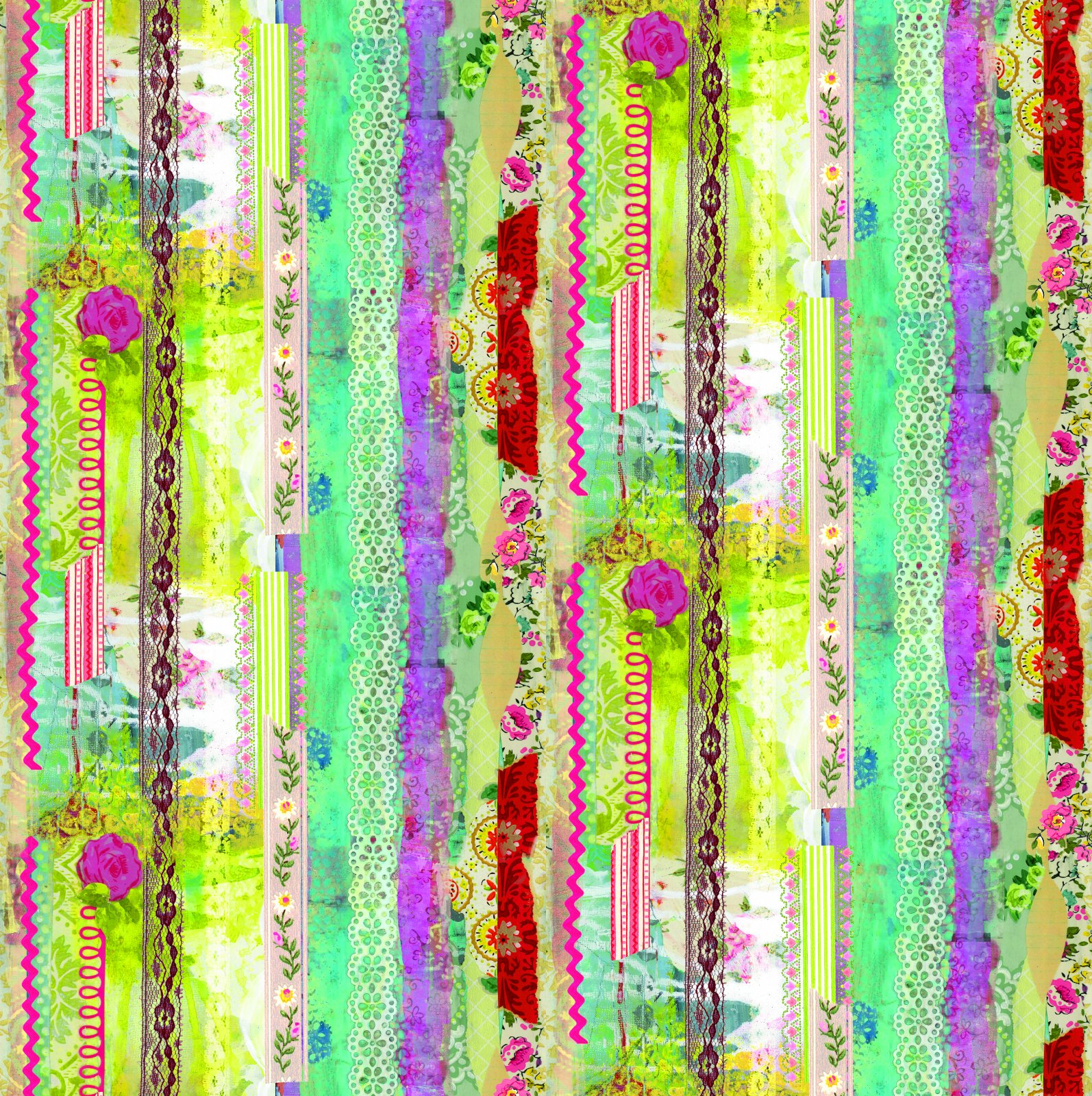 Benartex - Soul Shine & Daydreams - Stripe Multi