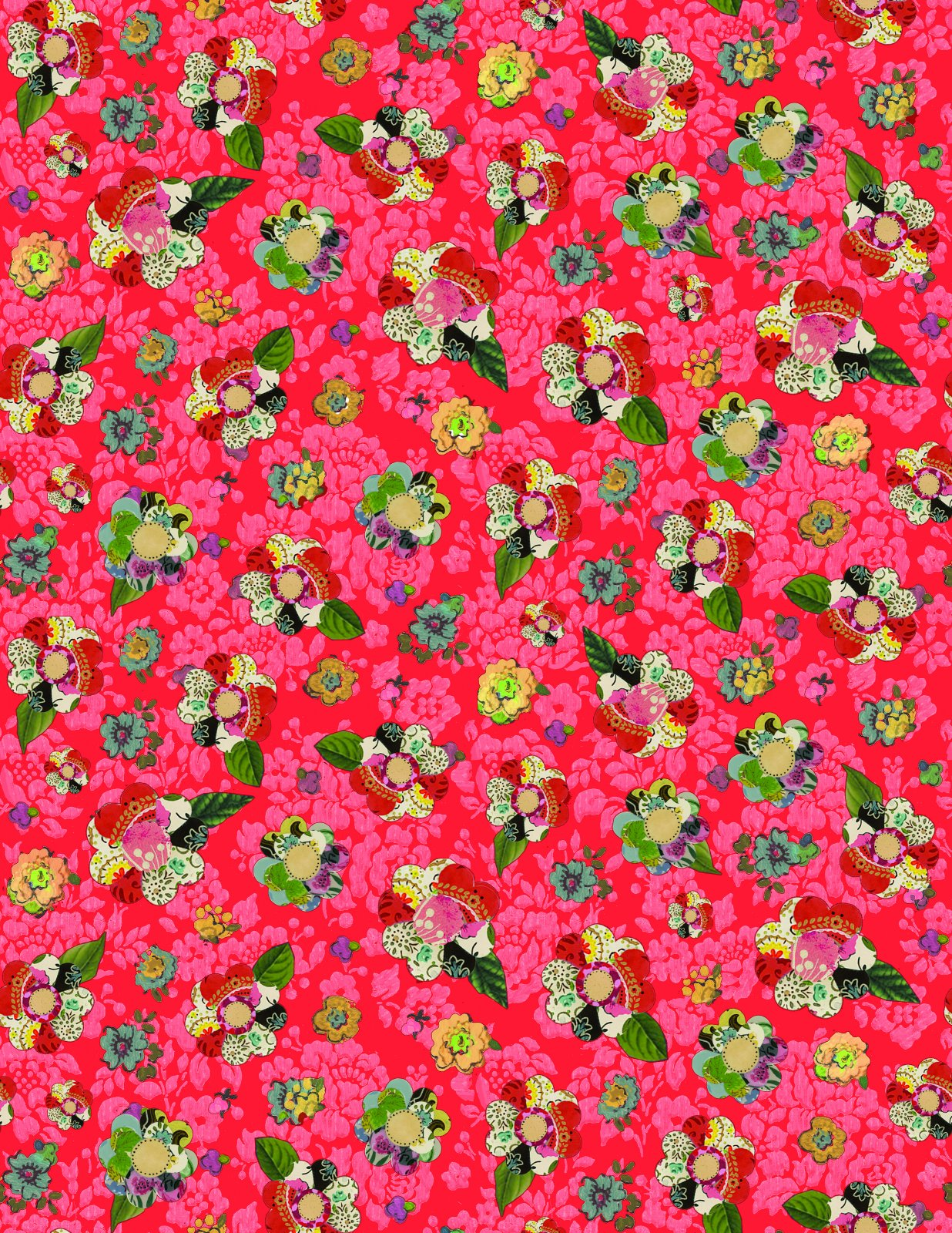 Benartex - Soul Shine & Daydreams - Collage Flower