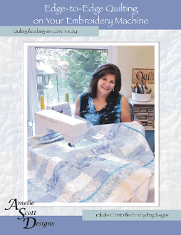 Edge to edge quilting on your embroidery machine