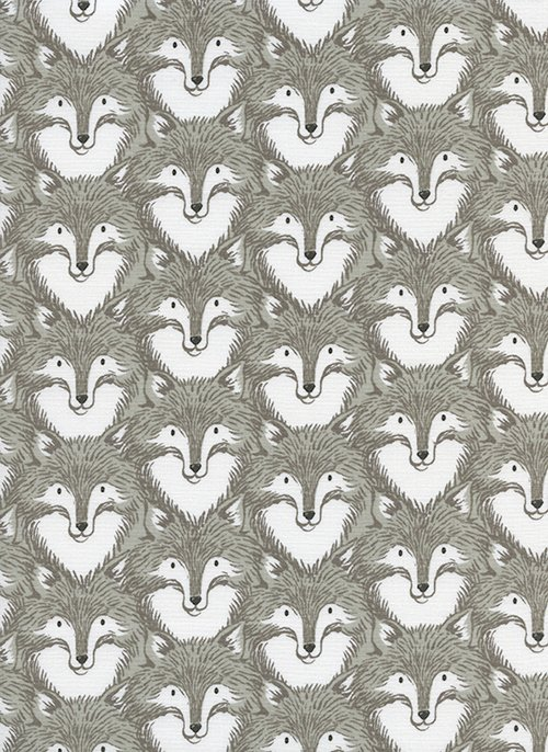 Cotton and Steel- Sarah Watts- Magic Forest- Foxes- Grey