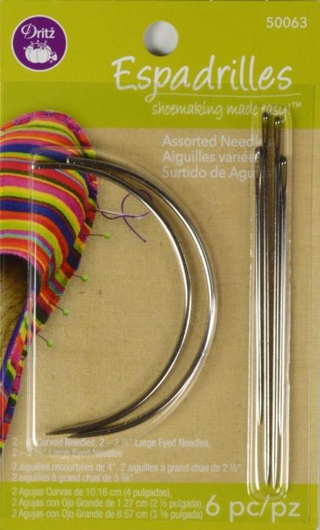 Dritz Espadrille Needles Ast Pkg 6 ct