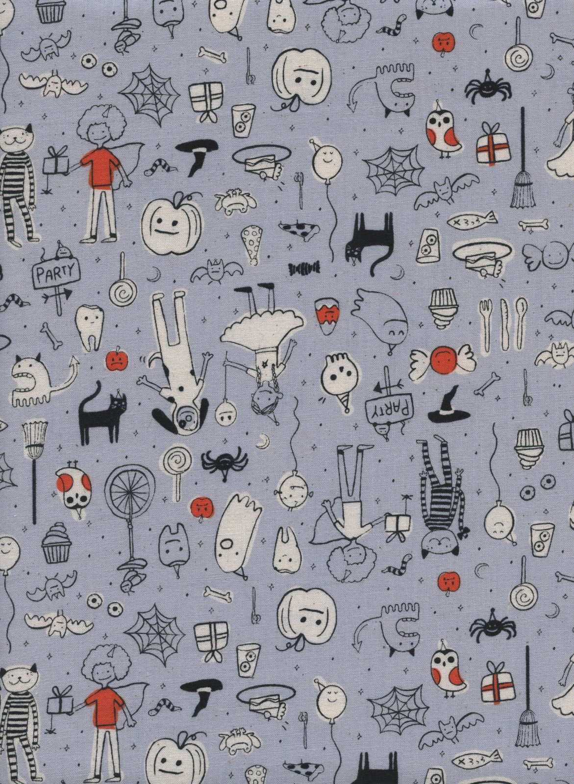Cotton & Steel - Lil' Monsters - Party Grey