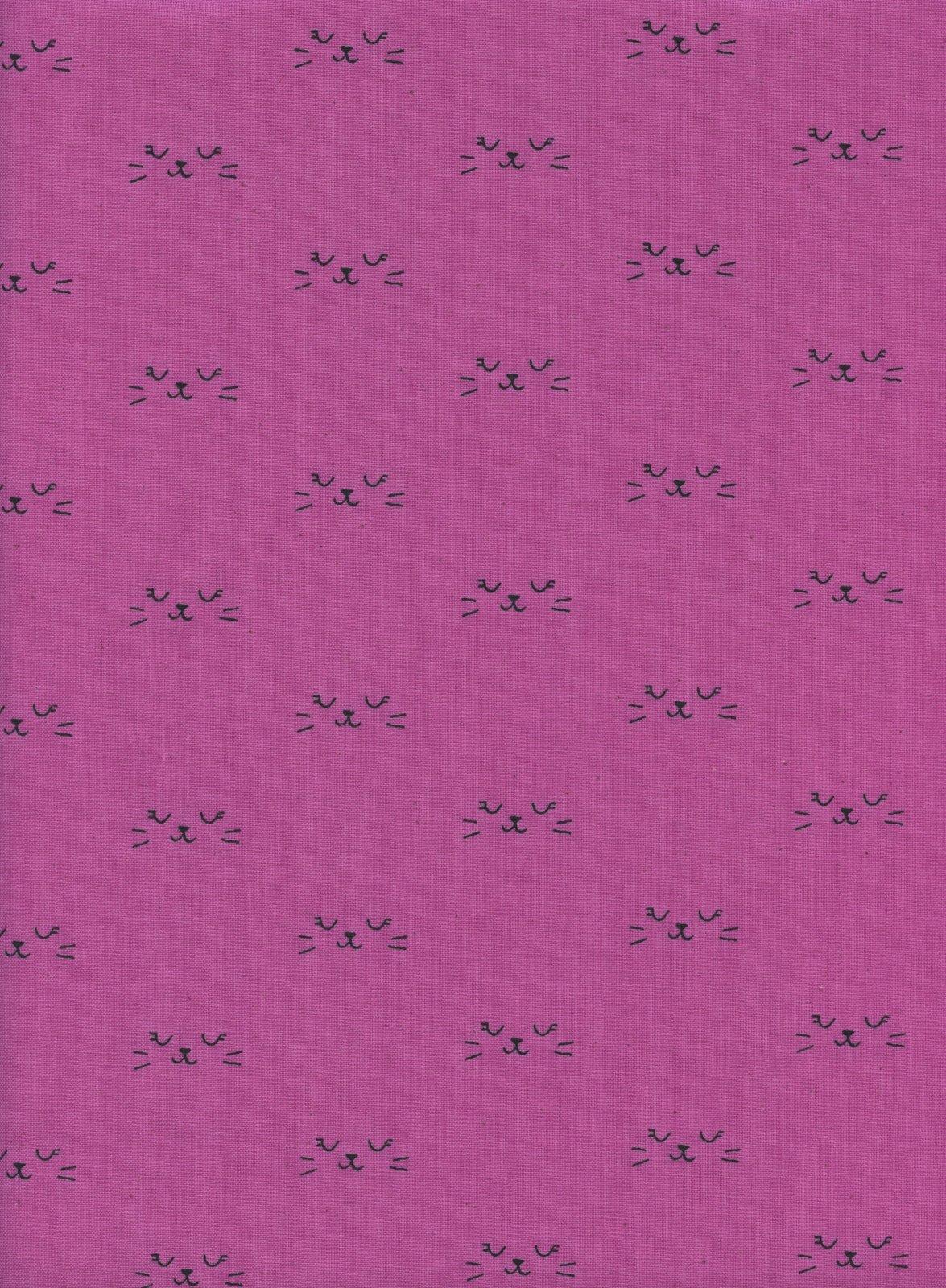 Cotton & Steel - Lil' Monsters - Neko Purple