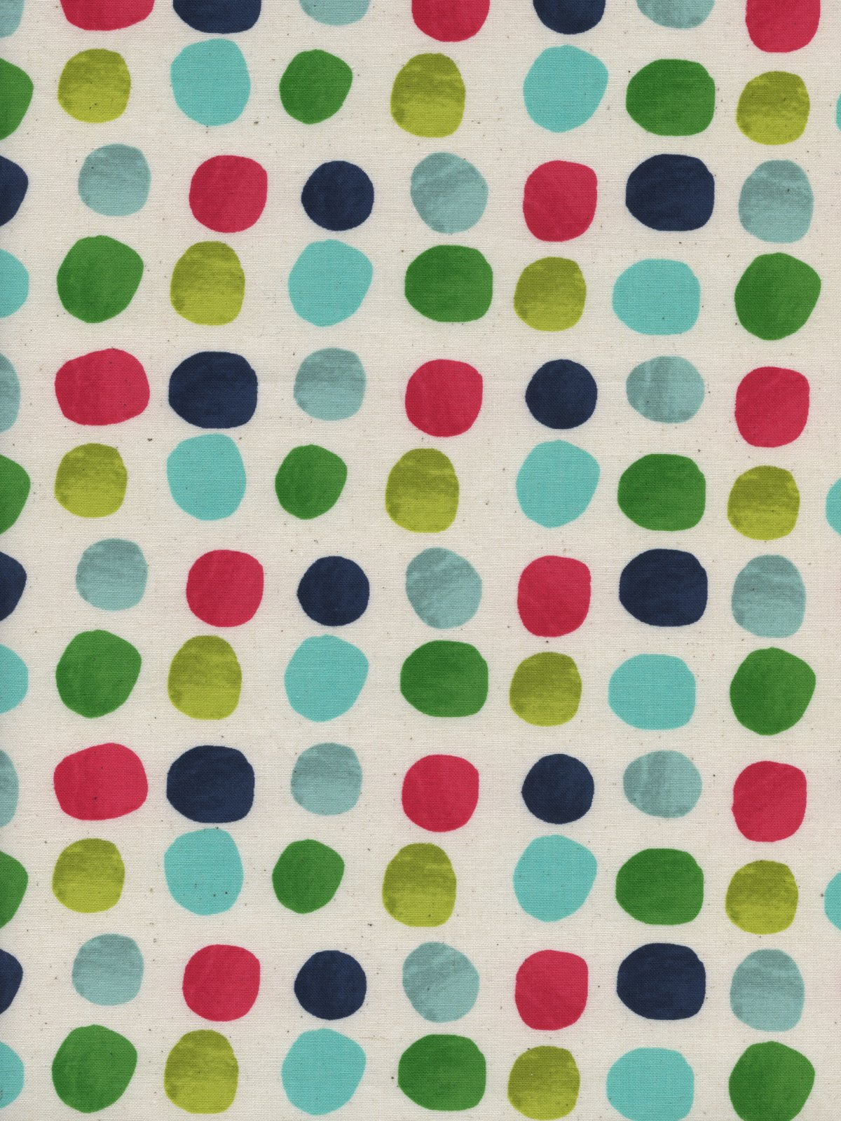 Cotton and Steel- Noel- Painted Dots Blue