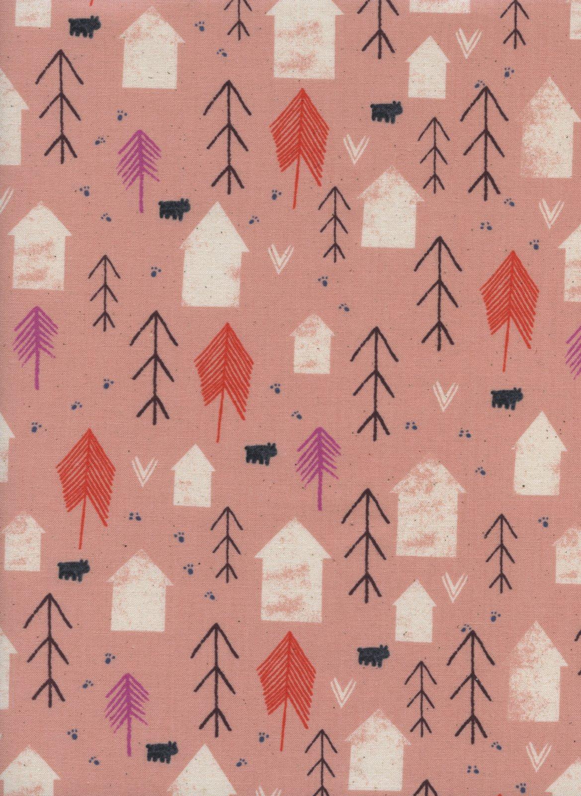 Cotton and Steel- Cozy- Neighbor- Peach