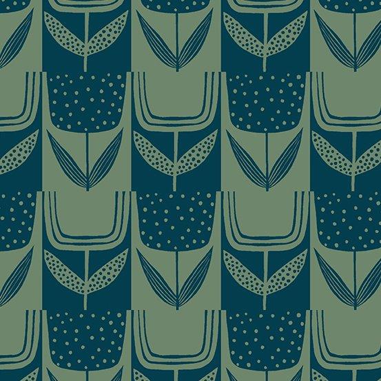 Andover Fabrics - Sarah Golden - Perennial - Patchwork Tulips