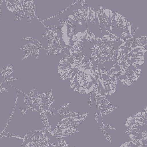 Benartex - Shadow Flower - Smoke Gray