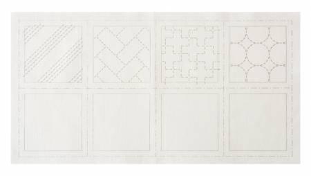 Cosmo Sashiko 100% Cotton Pre-printed Precut Cloth Set For Coasters