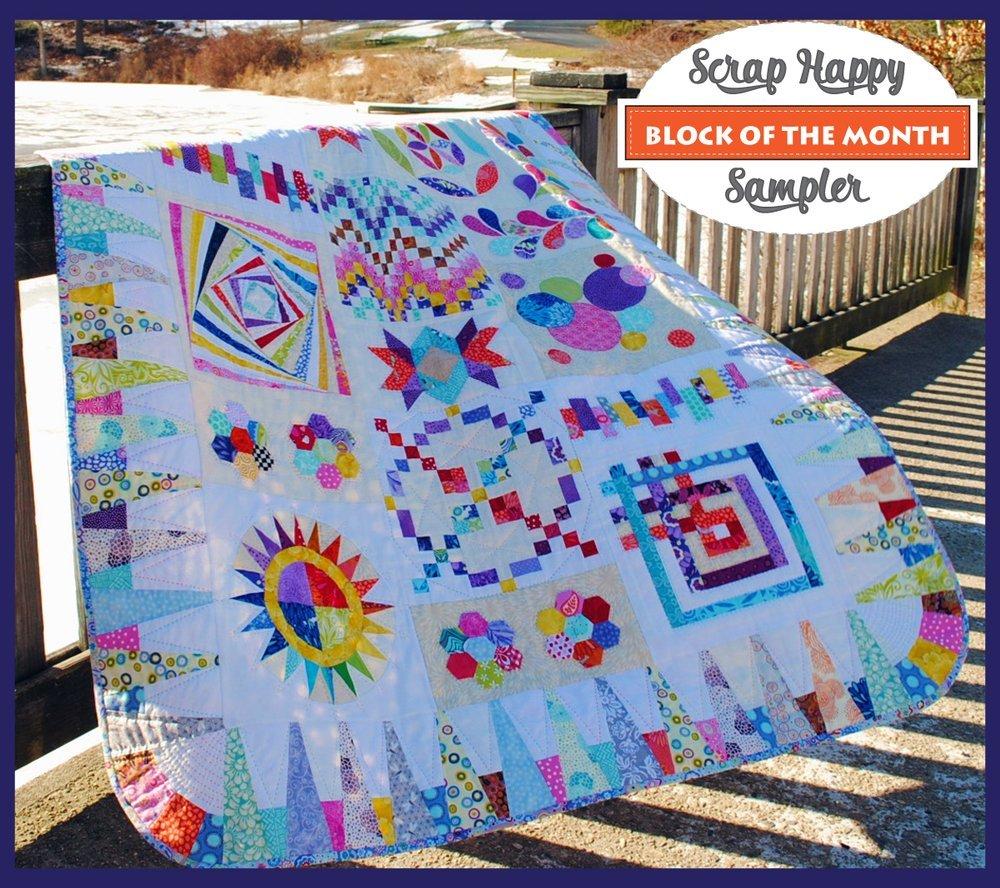 Rebecca Mae Designs- Scrappy Happy- Block of the Month