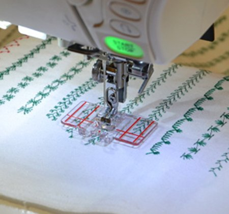 Janome - Border Guide Foot--for 9mm max. stitch width machines