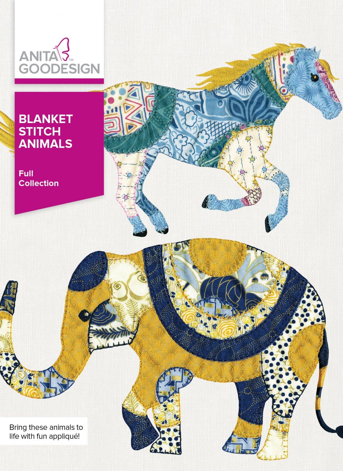 Anita Goodesign- Blanket Stitch Animals