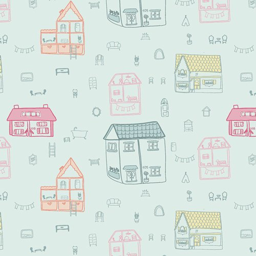 Live Art Gallery Fabrics - Daydream - Dollhouse Town