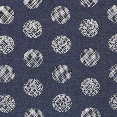 Art Gallery Fabrics - The Denim Studio - Pointelle Rings Printed Denim