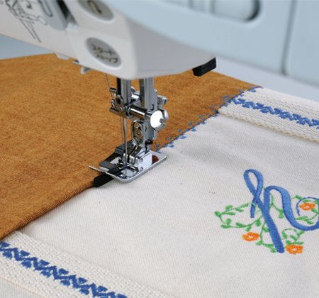 Janome - AcuFeed Ditch Quilting Foot--for 9mm max. stitch width machines with dual feed
