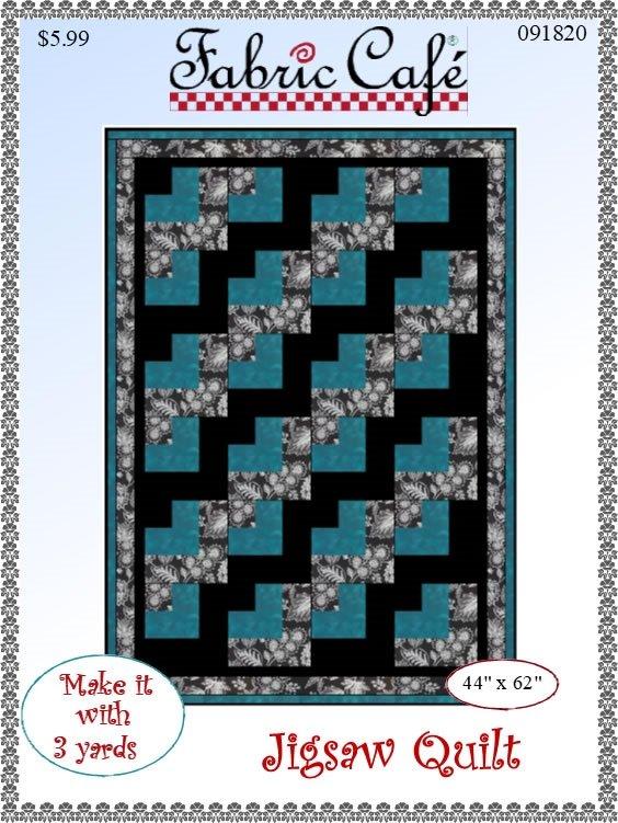 Fabric Cafe - Jigsaw 3 Yard Quilt Pattern