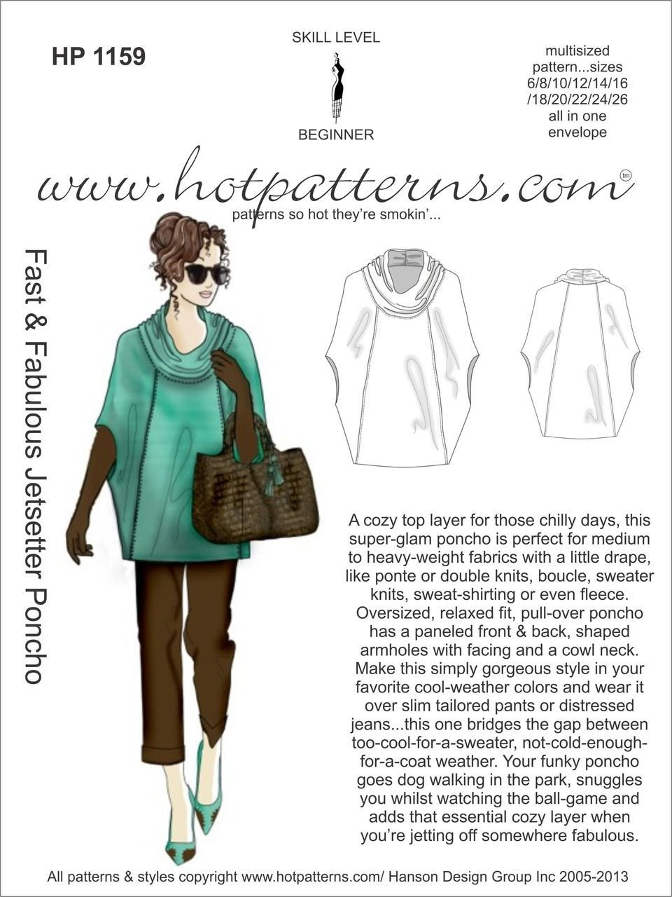 Hot Patterns - Fast and Fabulous Jetsetter Poncho