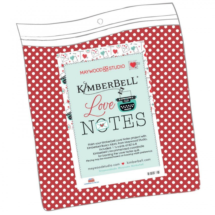 Kimberbell - Love Notes - Backing Kit