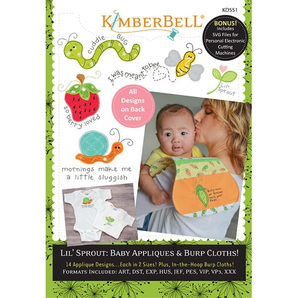 Kimberbell Designs Lil' Sprout: Baby Appliques & Burp Cloths Machine Embroidery CD