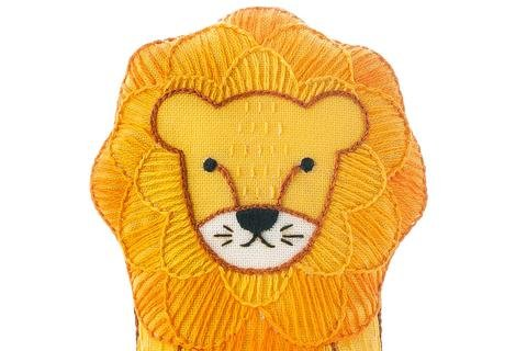 Kiriki Press DIY Embroidered Doll Kit LION