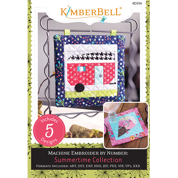 Kimberbell Designs Summertime Collection Machine Embroidery CD