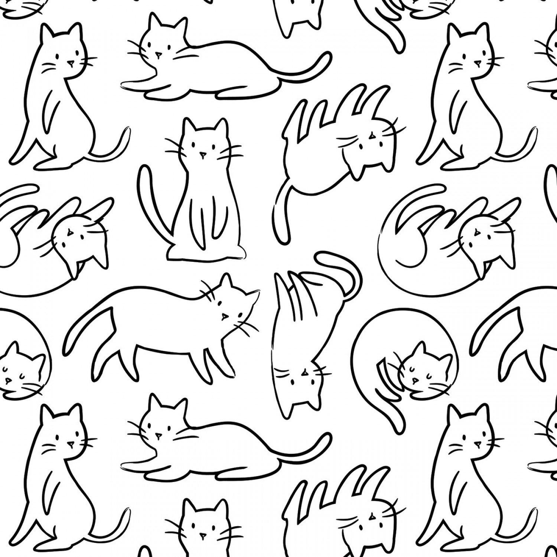 Camelot Fabrics- Anne Sullivan- Meow- Felines