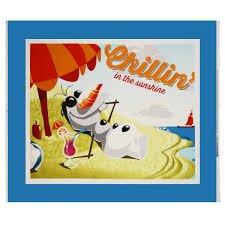 Disney Frozen  Olaf Chillin Panel- Aqua Blue