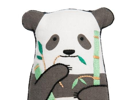 Kiriki Press D.I.Y Embroidered Doll Kit Panda