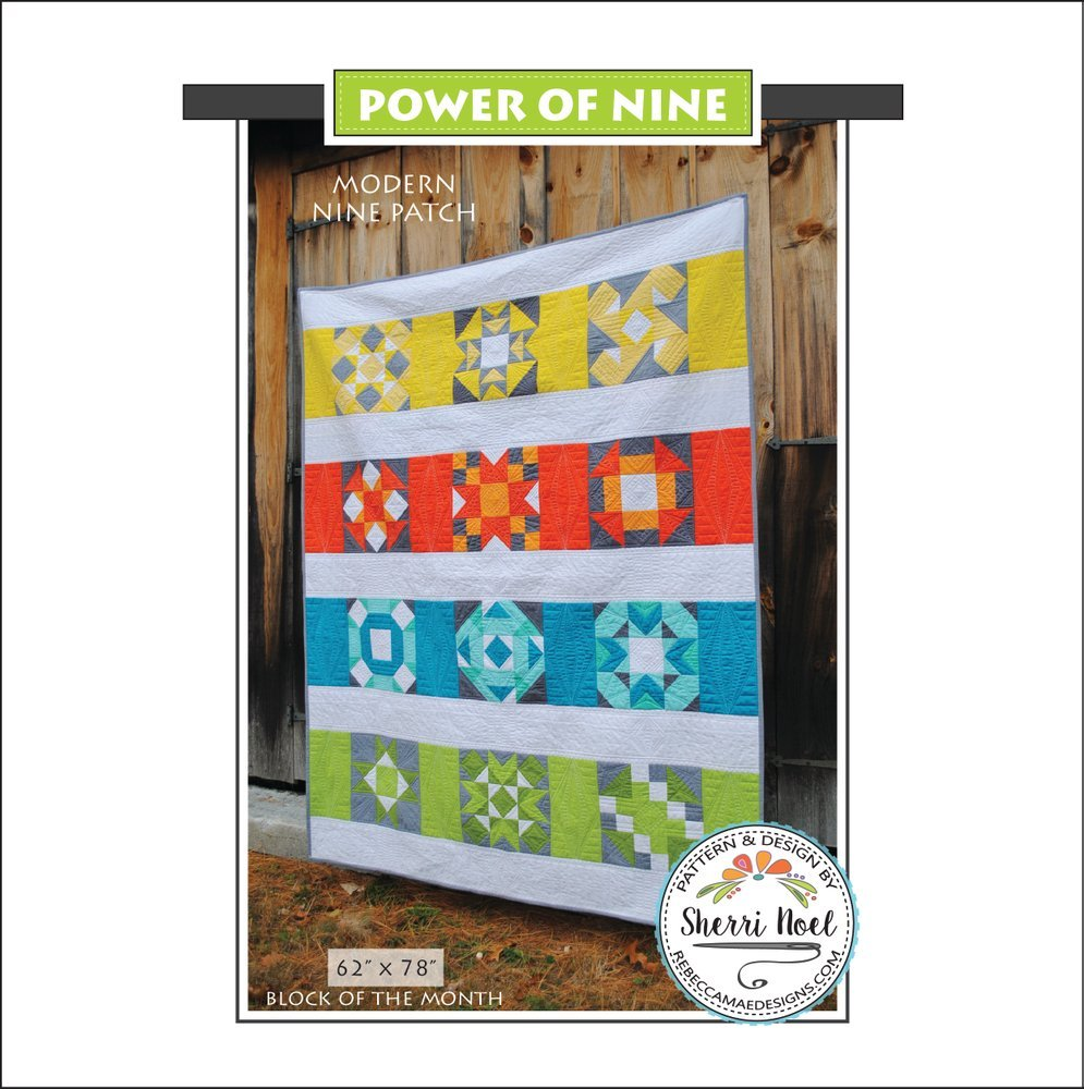 Rebecca Mae Designs- Block of the month- Power of nine