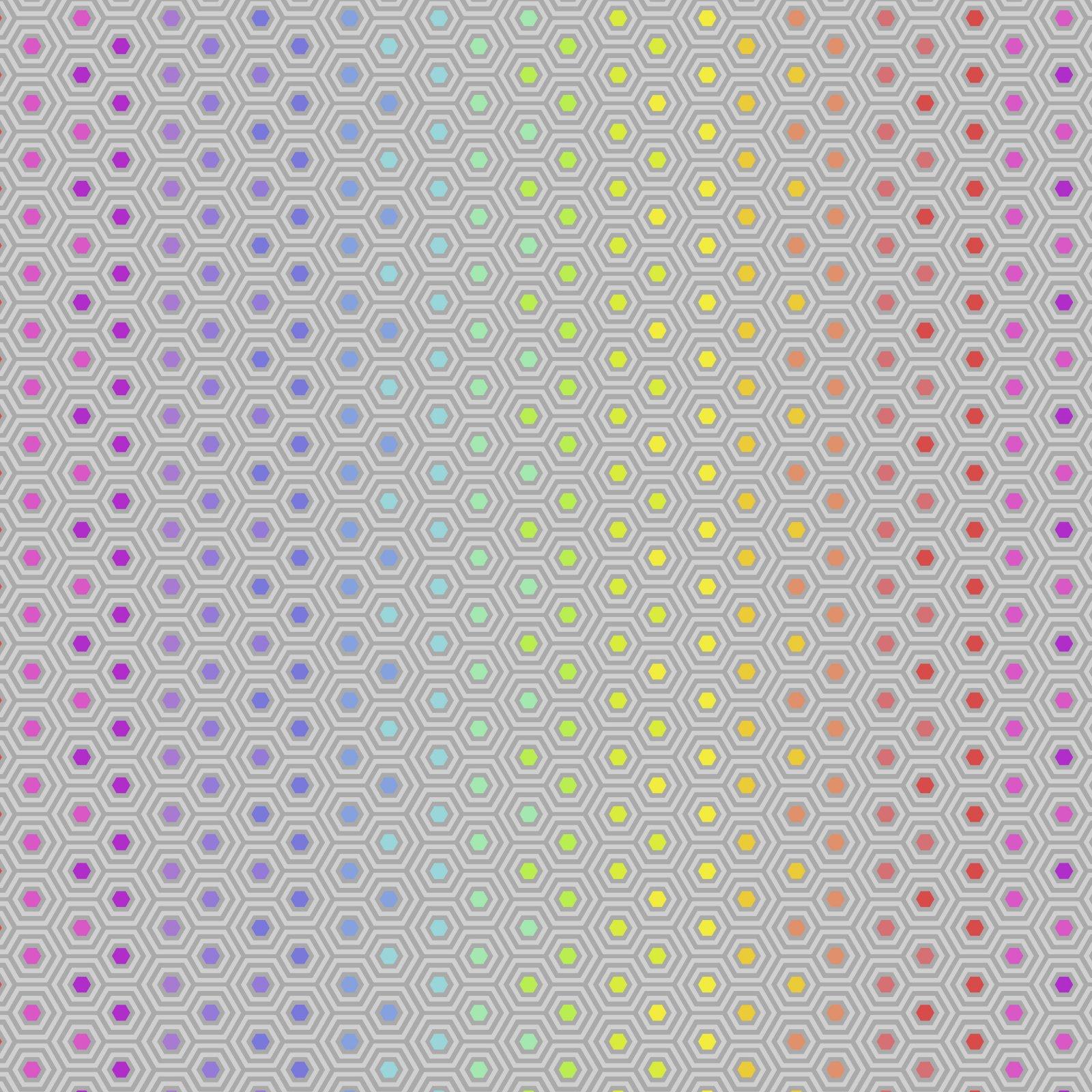 Free Spirit - Tula Pink - True Colors - Hexy Rainbow
