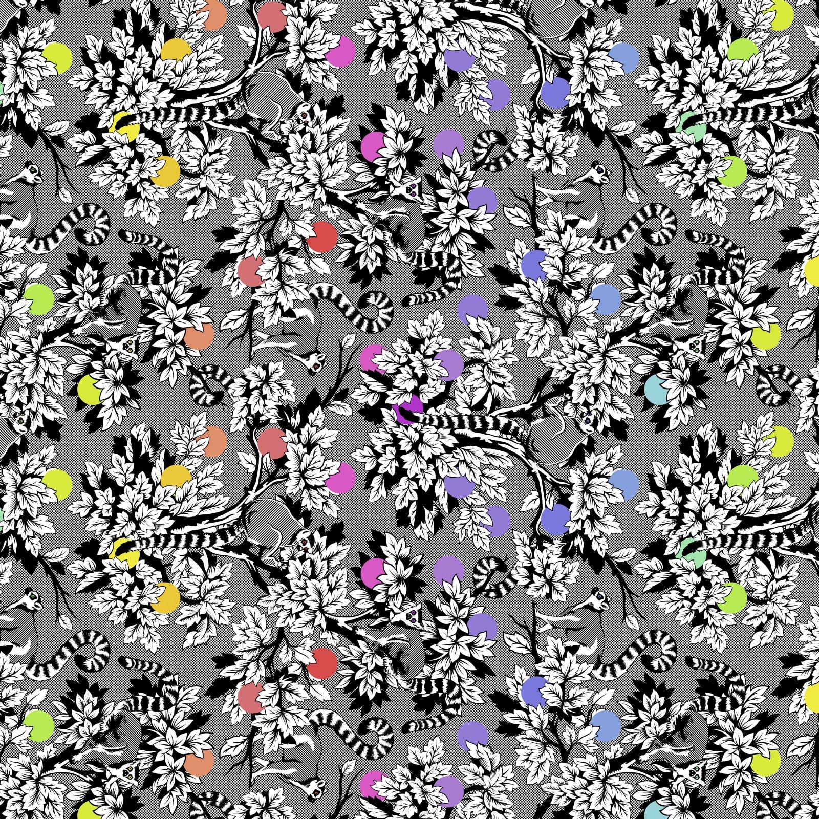 Free Spirit - Tula Pink - Linework - Lemur Me Alone in Ink - *PRE-ORDER